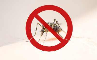 """A mosquito with a """"no sign"""" around it, representing Mosquito Control Near Me"""